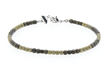 Stainless steel bracelet with natural Hematite stones gold and bronze