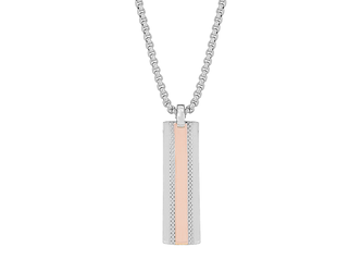 Stainless steel neckless and 18 kt rose gold plate (gr 0.20)