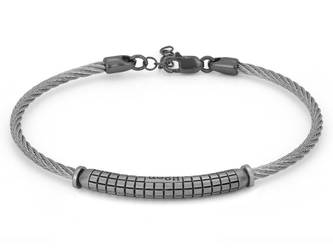 Stainless steel bracelet with semi-finished 925 silver